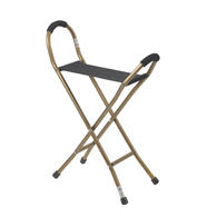 Drive Medical RTL10360 Folding Lightweight Cane w/ Sling Style Seat