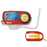 Taylor 817 Weekend Warrior Digital Thermometer-Remote Pager and Timer
